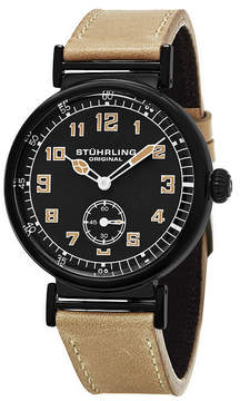 Stuhrling Original Mens Brown Strap Watch-Sp16250