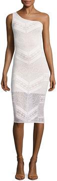 BELLE + SKY Burnout One Shoulder Bodycon Dress