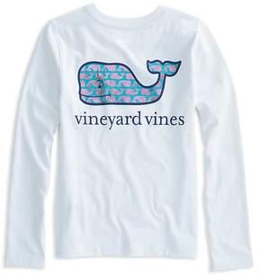 Vineyard Vines Girls' Long-Sleeve Sketched-Whale-Logo Tee - Big Kid
