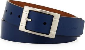 Robert Graham Darrowsville Nickel Buckle Leather Belt, Blue