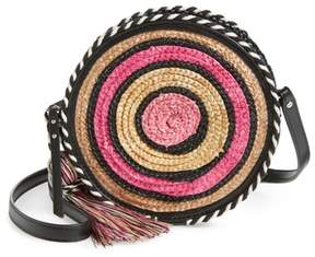 Rebecca Minkoff Straw Circle Crossbody Bag - PINK - STYLE