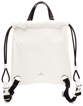 Moncler Drawstring Backpack in Leather
