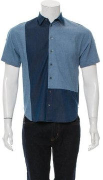 3.1 Phillip Lim Patchwork Chambray Shirt