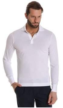Cruciani Men's White Cotton Polo Shirt.
