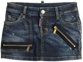 DSQUARED2 Destroyed Stretch Denim Skirt