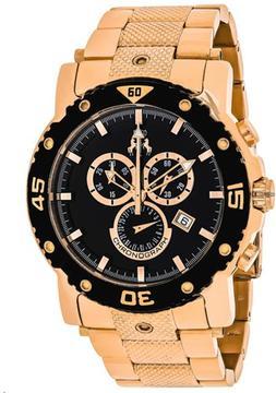Jivago Titan JV9123XL Men's Round Rose Gold Tone Stainless Steel Watch