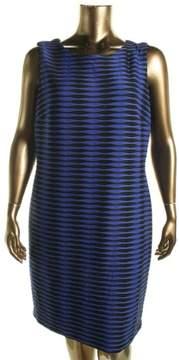 Calvin Klein Women's Textured Striped Stretch Sheath Dress