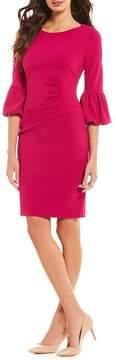 Jessica Howard Bell Sleeve Sheath Dress