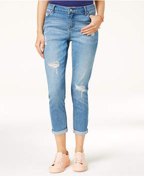 Celebrity Pink Juniors' Ripped Girlfriend Jeans