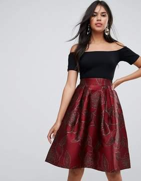 AX Paris Jacquard Skirt Midi Dress
