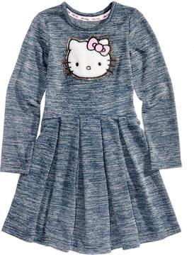 Hello Kitty Pleated Long-Sleeve Dress, Little Girls (4-6X)