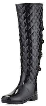 Hunter Refined Gloss Quilted Over-The-Knee Boot