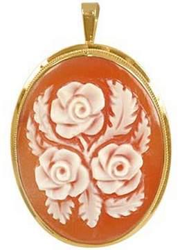 Del Gatto Roses Cornelian Cameo Pendant / Pin