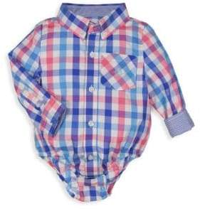 Andy & Evan Baby Boy's Check Cotton Shirtzie