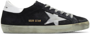 Golden Goose Deluxe Brand Navy Suede Superstar Sneakers