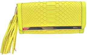 Emilio Pucci Yellow Python Clutch Bag