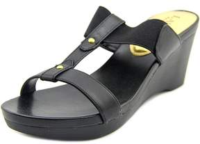 Lauren Ralph Lauren Rue Wedge Women US 7 Black Wedge Sandal