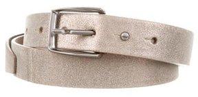 Brunello Cucinelli Metallic Leather Belt w/ Tags