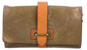 MZ Wallace Bicolor Leather Clutch