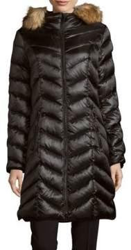 Dawn Levy Abilene Faux Fur-Trimmed Down Puffer Coat