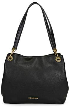 Michael Kors Raven Large Leather Shoulder Bag - Black - ONE COLOR - STYLE