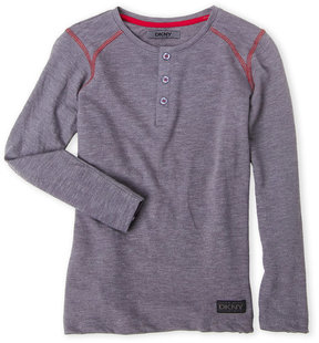 DKNY Boys 8-20) Long Sleeve Henley
