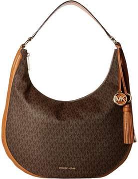 MICHAEL Michael Kors Lydia Large Hobo Hobo Handbags - BROWN - STYLE