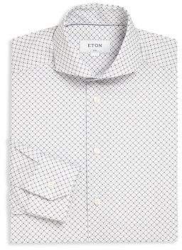 Eton Diamond Print Dress Shirt