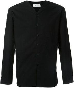 Lemaire V-neck collarless shirt