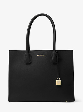 Michael Kors Mercer Extra-Large Leather Tote - BLACK - STYLE