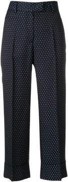 Alberto Biani cropped polka dot trousers