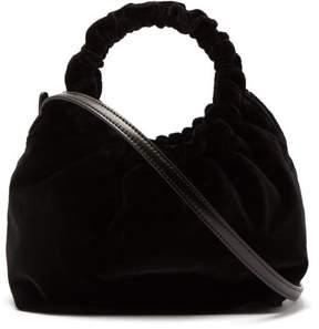 The Row Double Circle Small Velvet Bag - Womens - Black