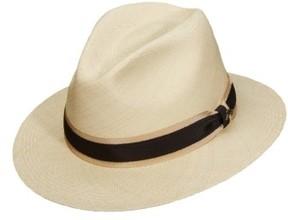 Tommy Bahama Men's Panama Straw Safari Hat - White