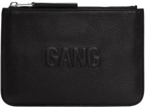 Neil Barrett Black Embossed Gang Pouch