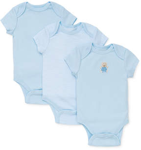 Little Me Baby Boys' 3-Pack Cute Bear Bodysuits
