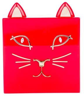 Charlotte Olympia Kitty Perspex Clutch