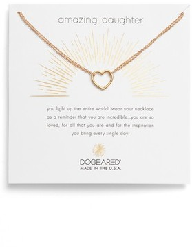 Dogeared Women's Amazing Daughter Pendant Necklace