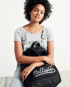Hollister Graphic Nylon Backpack