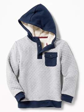 Old Navy Quilted Henley Hoodie for Boys