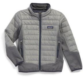 Patagonia Boy's 600-Fill Power Down Water-Repellent Hybrid Jacket