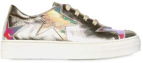 Simonetta Stars Laminated Leather Sneakers