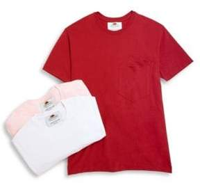 Cédric Charlier Three-pack of double-pocket cotton tees