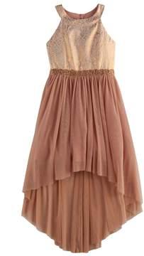 My Michelle Girls 7-16 Halter Bodice High-Low Dress