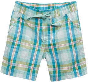 First Impressions Plaid Cotton Shorts, Baby Boys, Created for Macy's