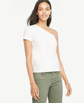 Ann Taylor One Shoulder Tee