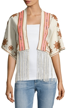 Cleobella Women's Venus Cotton Embroidered Cardigan