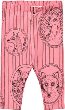 Mini Rodini Pink Fox Print Leggings