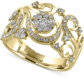 Effy Diamond Filigree Floral Ring (1/2 ct. t.w.) in 14k Gold or Rose Gold