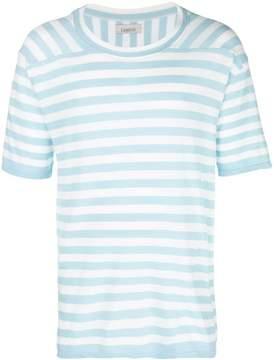Laneus striped round neck T-shirt