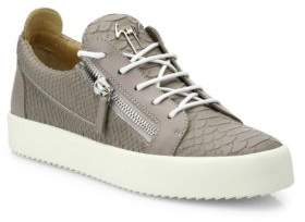 Giuseppe Zanotti Maryland Croc-Embossed Leather Low-Top Sneakers